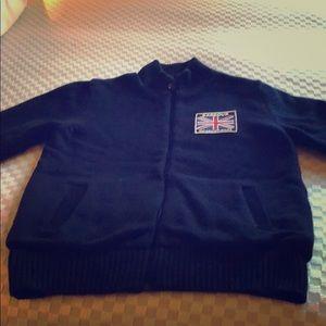 Barbour international sweater jacket.
